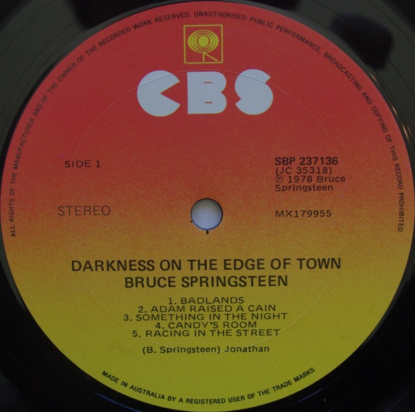Album du siècle du mois : Darkness on the edge of town